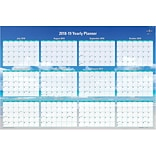 2018-2019 Blue Sky Academic Dry Erase Wall Calendar, Laminated, Endless Summer, 36 x 24 (BSK-10241
