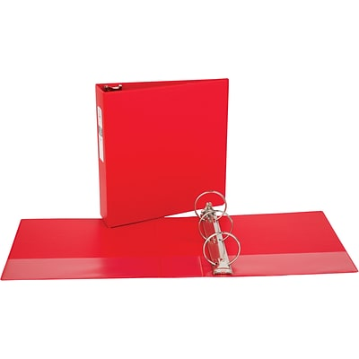 Avery Economy Binder with 3 Round Ring, Red (3608)