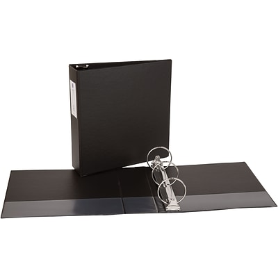 Avery Economy Binder with 3 Round Ring, Black (4601)