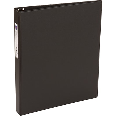 Avery Economy Binder with 1 Round Ring, Black (4301)