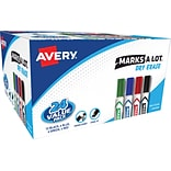 Avery Marks-A-Lot Chisel Point Dry-Erase Marker, Assorted, 24/Pack (98188)