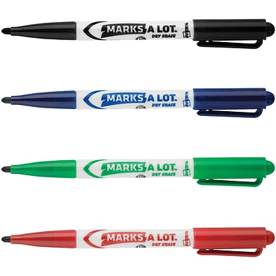 Avery Marks-A-Lot Pen Style Dry Erase Marker, Fine Point, Assorted, 24/Pack (29860)