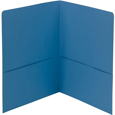 Smead® Two Pocket Portfolios, Blue, 25/Box