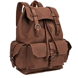 Staples Rutland Backpack, Brown, 7.08W x 16.92H x 14.57D (52419)