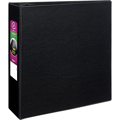 Avery Durable Binder, 4 EZD Rings, 780-Sheet Capacity, DuraHinge, Black (07801)