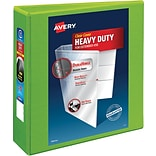 Avery® Heavy-Duty View Binders with One Touch™ EZD® Ring, 3, Chartreuse