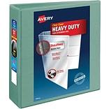 Avery® Heavy-Duty View Binders with One Touch™ EZD® Ring, 3, Sea Green
