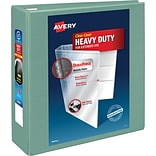 Avery® Heavy-Duty View Binders with One Touch™ EZD® Rings, 4, Sea Green