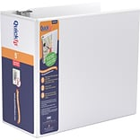Stride® QuickFit® 5 D-Ring View Binder, White