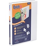 Stride® QuickFit® 5/8 D-Ring View Binder, White