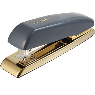 Swingline® Durable Desk Stapler, 20 Sheet Capacity, Gray/Gold (64703)