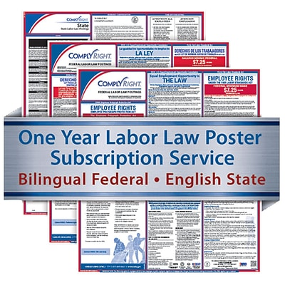 ComplyRight 1 Year State & Federal Poster Service, Illinois--Bilingual Fed & Eng State Posters
