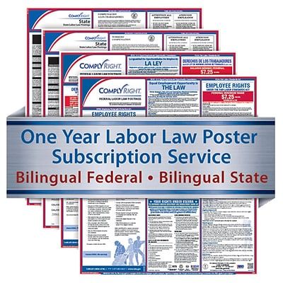 ComplyRight 1 Year State & Fed Poster Service, California--Bilingual Fed & Bilingual State Posters