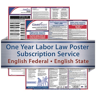 ComplyRight 1 Year State & Federal Poster Service, Texas--English Federal & English State Posters