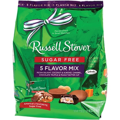 Russell Stover Sugar-Free Chocolates 5 Flavor Mix, 17.85 oz