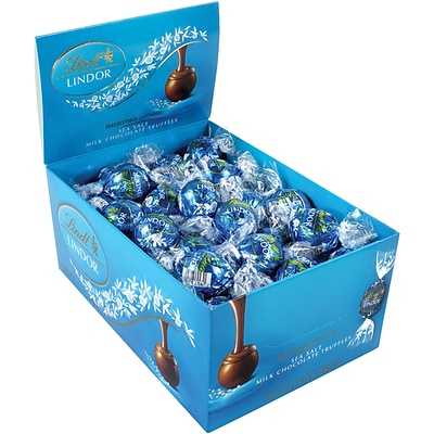 Lindt Truffles Milk Chocolate Sea Salt, 60 Count