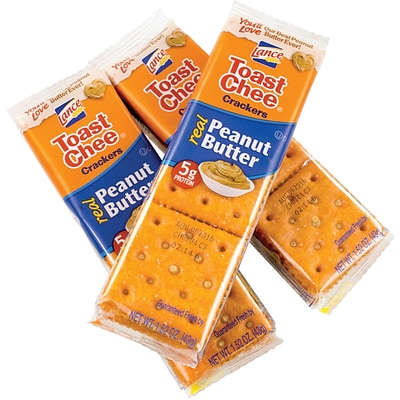 Lance Toast Chee Peanut Butter Crackers, 40 Pack
