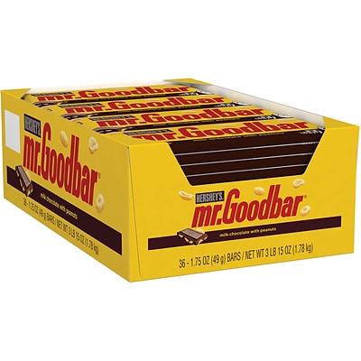 MR. GOODBAR Milk Chocolate Bars, 1.75 oz, 36 Count