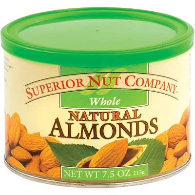 Superior Nut Whole Natural Almonds, 7.5 oz, 12 Count