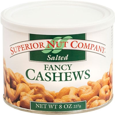 Superior Nut Whole Cashews, 8 oz, 12 Count
