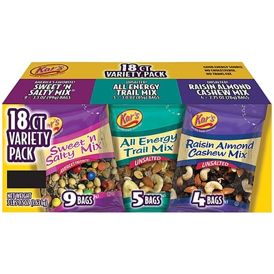 Kars Trail Mix Variety Pack, 18 Count