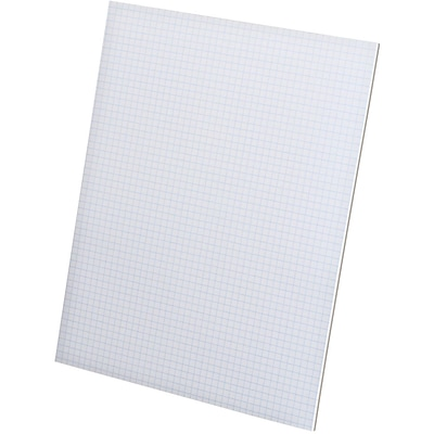 Ampad® Graph Writing Pad 8-1/2 x 11, Quad Ruling Graph Paper, 5 Squares/Inch, White, 50 Sheets/Pad