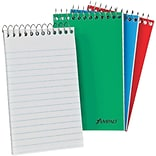 Ampad® Pocket Size Memo Notebook 3x5, Narrow Ruling, White, 60 Sheets/Pad