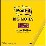 Post-it® Super Sticky Big Notes, 11 x 11, Bright Yellow (BN11)