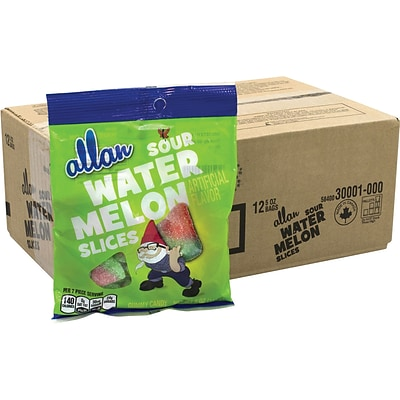 ALLAN Sour Watermelon Slices Gummy Candy, 5 oz, 12 Count