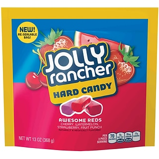 JOLLY RANCHER AWESOME REDS Hard Candy Assortment, 13 oz., 4 Count (55689)