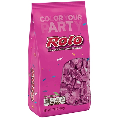 ROLO Chewy Caramels in Milk Chocolate, Pink, 17.6 oz., 2 Pack (37886)
