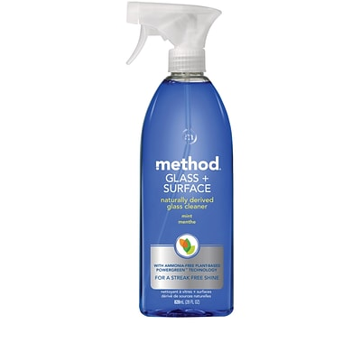 Method Glass Cleaner + Surface Cleaner, Mint, 28 Ounce (00003)