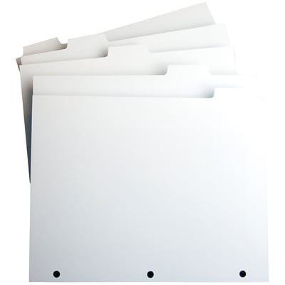 Xerox® Single Reverse Collated Index Dividers, White, 5 Tab, Punched, 9W x 11L, 250 Sets/Box