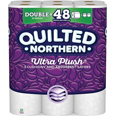 Quilted Northern Ultra Plush 3-Ply Toilet Paper, 24 Rolls/Pack (873585)