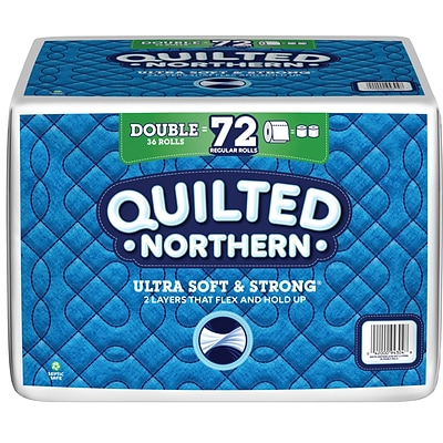 Quilted Northern Ultra Soft & Strong 2-Ply Toilet Paper, 36 Rolls/Carton (943045)