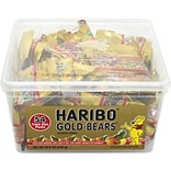 Haribo Gold-Bears Gummy, Fruit, 0.4 Oz., 54/Carton (209-00181)