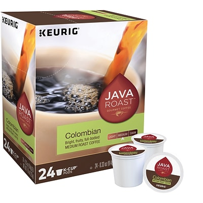 Java Roast Colombian Coffee, Keurig K-Cup Pods, Medium Roast, 24/Box (52969)