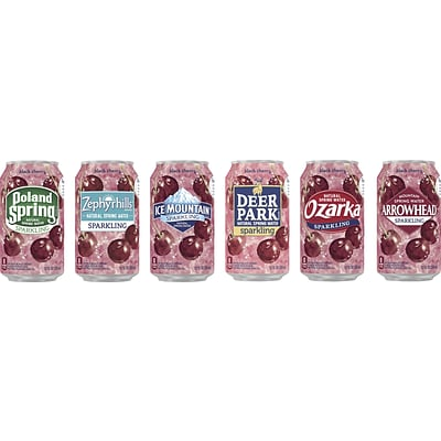 Nestle® Waters Regional Sparkling Natural Spring Water, 12-oz., Black Cherry, 24 Cans/Case