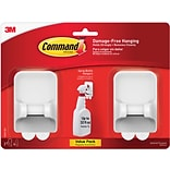 Command™ Spray Bottle Hangers, White/Gray, 2 Bottle Hangers and 4 Strips/Pack (17009-2ES)