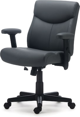 Quill Brand® Traymore Luxura Managers Chair, Grey