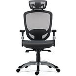 Quill Brand® Hyken Technical Mesh Task Chair, Charcoal Gray