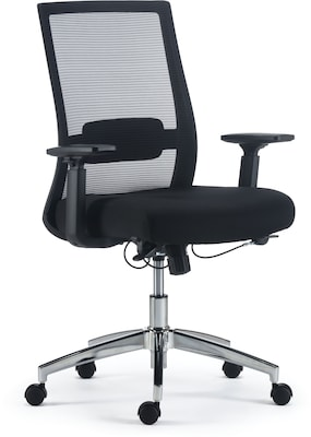 Quill Brand® Marrett Mesh and Fabric Task Chair, Black
