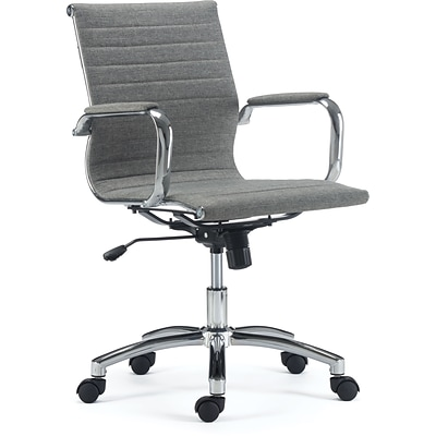 Quill Brand® Everell Fabric Managers Chair, Grey