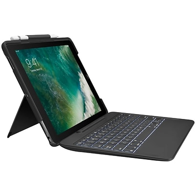 Logitech Slim Combo with Detachable Backlit Keyboard and Smart Connector for iPad Pro 10.5, Black (920-008420)