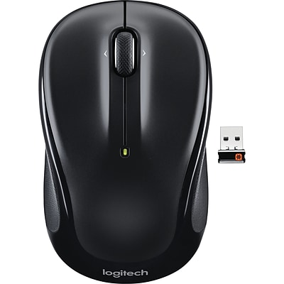 Logitech M325 Optical Wireless Ambidextrous Mouse, Black