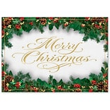 Holiday Expressions®, Glimmer & Gold Christmas Cards With Gummed Envelope