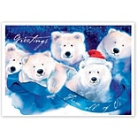 Holiday Expressions®, Jolly Bears Holiday Cards With Self Stick Envelope