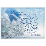 Holiday Expressions®, Thankful Stars Holiday Cards With Gummed Envelope
