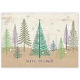 Holiday Expressions®, Pastel Pines Holiday Cards With Self Stick Envelope