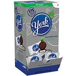 York Peppermint Patties Chocolate, Peppermint, 84 Oz., 175/Box (HEC06643)